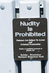 Nudity is Prohibited. In this Garbage Can.