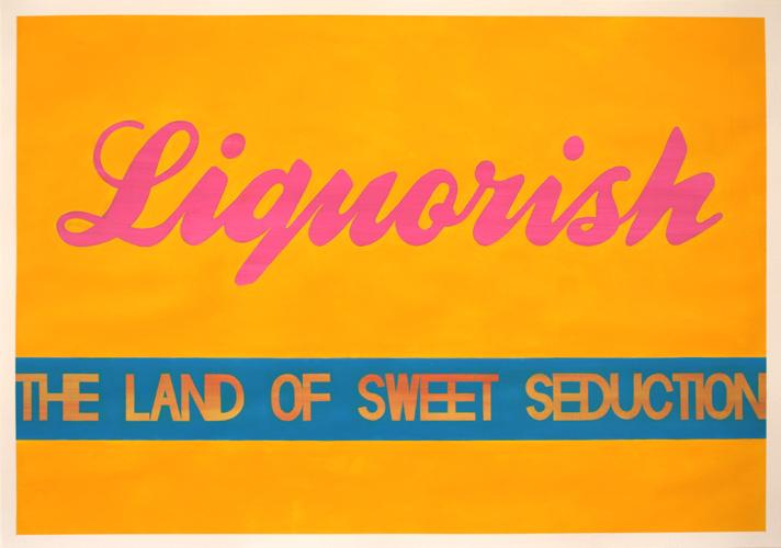 Liquorish, Acrylic on Paper, 100cm x 70cm by Robin Clare