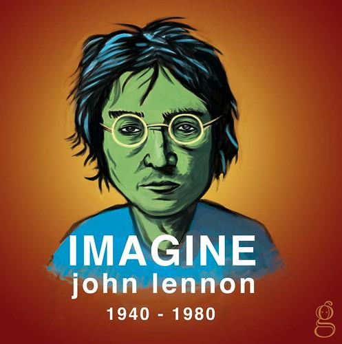 Imagine : tribute to John Lennon - Illustration Gilderic