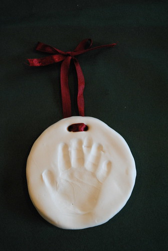 Christmas handprint ornament