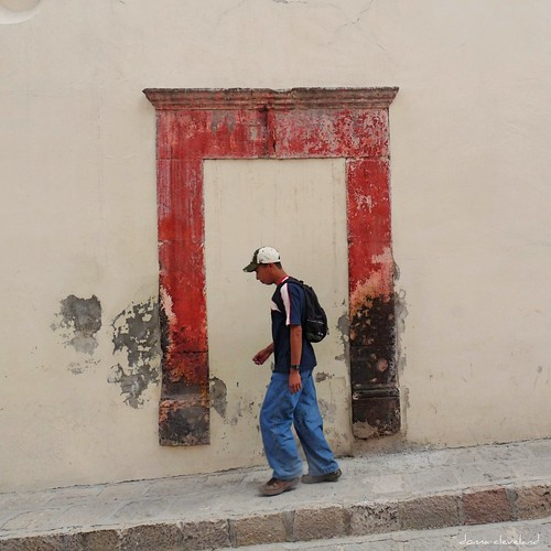 door boy red green wall youth mexico puerta chinatown... (Photo: msdonnalee on Flickr)