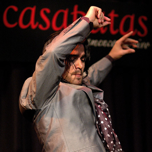 Pol Vaquero en el tablao de Casa Patas. Foto: Martín Guerrero