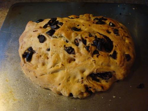 Olive Focaccia Bread