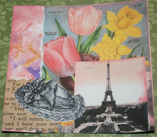 "Paris in the Spring 4"" x 4"" Collage Card"