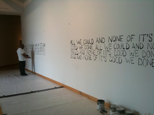 "Trenton Doyle Hancock prepares for ""We Done All We Could and None of it's Good"" opening at USFCAM"