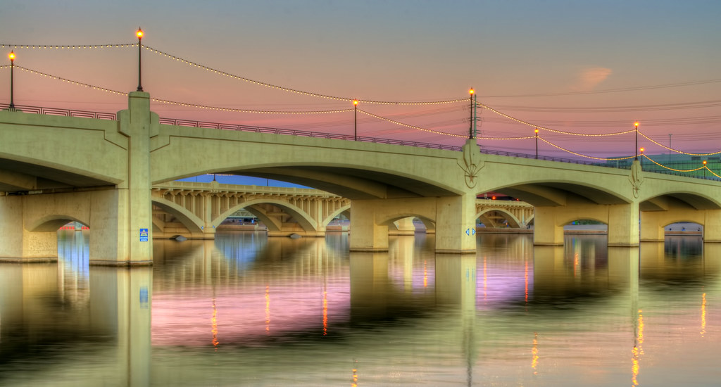 Mill Avenue Bridge in Pastel