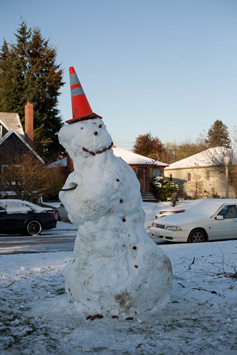 UPS Snowman