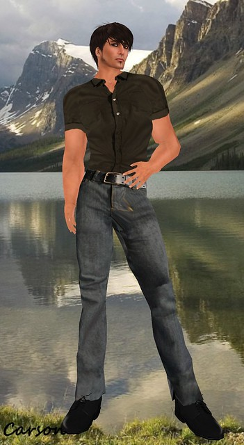 MYTH Tucked Shirt and Jeans