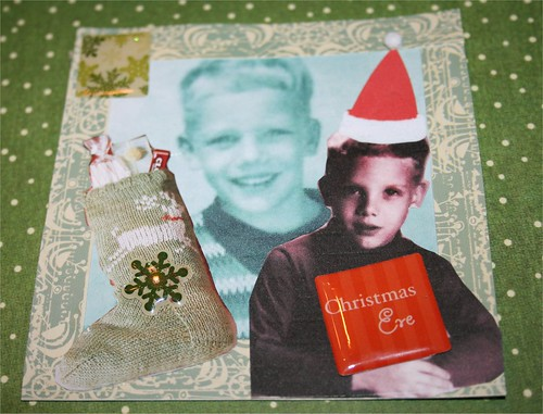 "Brian's Christmas Eve 4"" x 4"" Collage Card"