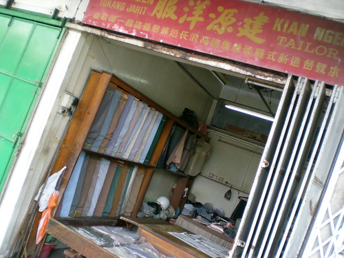 Old school gents' tailor, Kuching