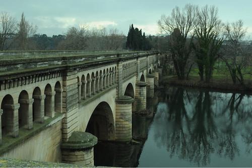 Canal du Midi Orb aqueduct