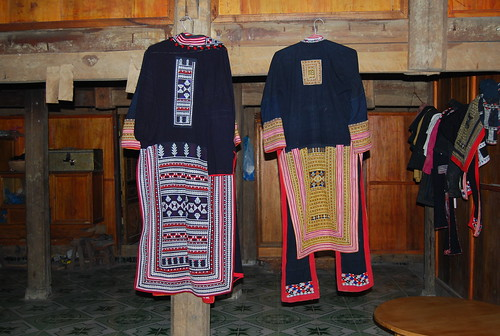 traditional red dzao jacket