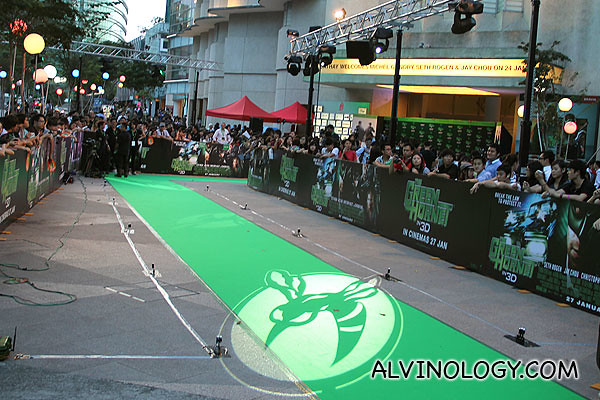 They had a cool green carpet instead of the usual red carpet