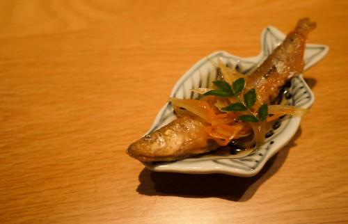 Starter: sweetened dried sardine