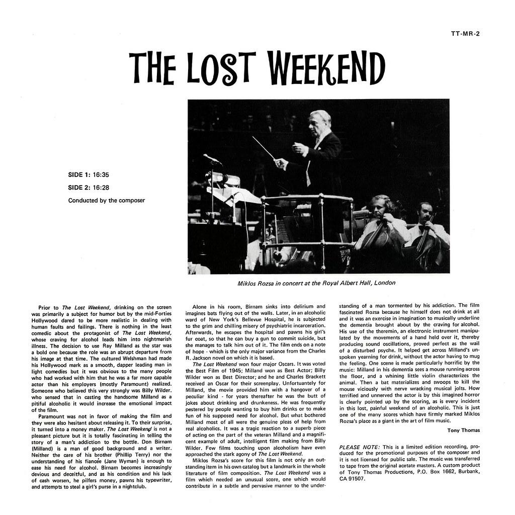 Miklós Rózsa - The Lost Weekend