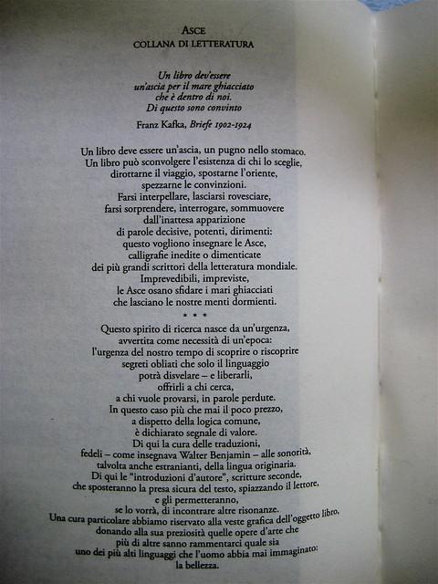 """Marcel Proust, Gelosia, Editori Riuniti 2010; realizzazione editoriale: Clavis, alla cop.: """"La voix du sang, 1961, di René Magritte"""", verso dell'occhietto (part.), 1"""