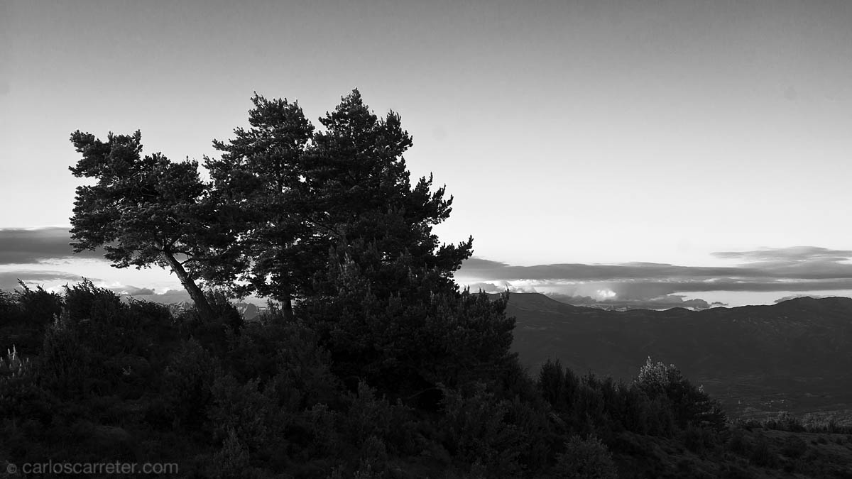 Sierra de Guara hacia el Pirineo
