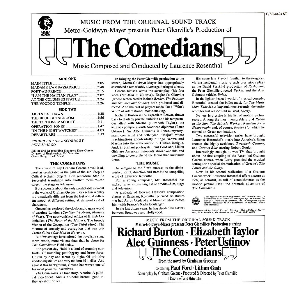 Laurence Rosenthal - The Comedians