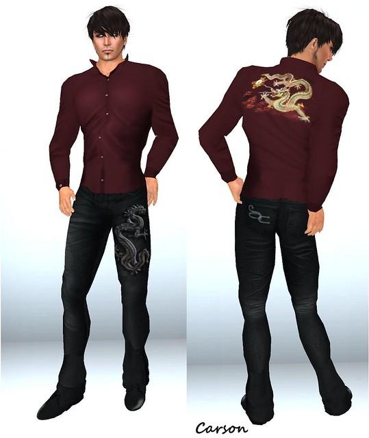 Ali Couture - Dragon Pants  Dark Water Designs - Dragon Shirt