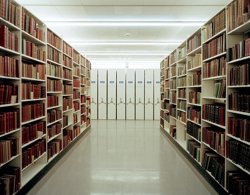 Collection storage area, Basement 2, British Library, 2007. Copyright: Russell Watkins