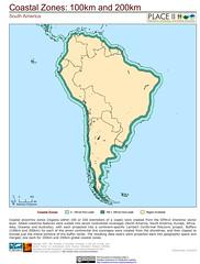 South America: 100 km and 200 km Coastal Zones