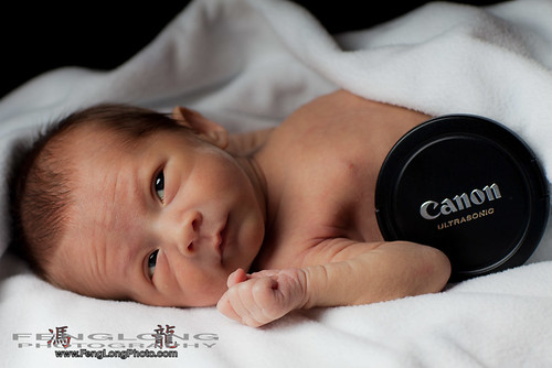 Miles Long and Canon Camera [Atlanta Newborn Photographer]