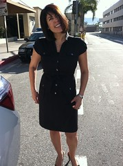 My Wife Esther bid me farewell done proper dressed as a sexy stewardess. I win...