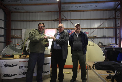 Chuck Drake EAA, Drew King and Ed McGuinness Igor I Sikorsky Memorial Corsair Restoration