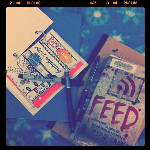 #dailyarsenal journal, book, notebook for book notes, marker, pen, pencil