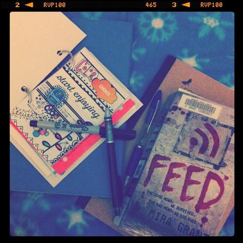 #dailyarsenal journal, book, notebook for book notes, marker, pen, pencil