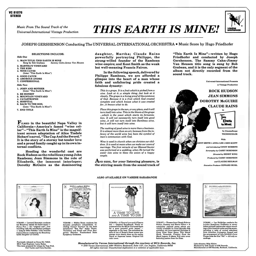 Hugo Friedhofer - This Earth Is Mine