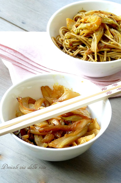 Soba Japanese spices and orange fennel
