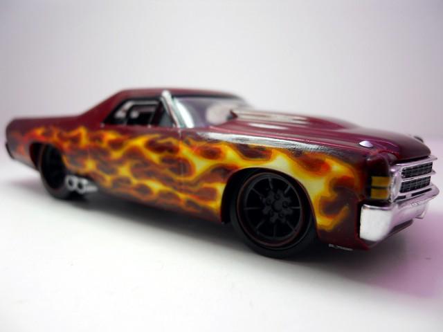 hot wheels 143 custom design '71 Chevy El Camino (2)