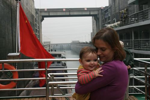 Arlo and Tanya in the shiplocks