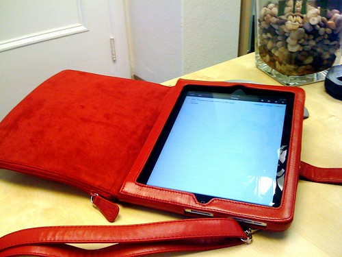 the iPad Clutch, open