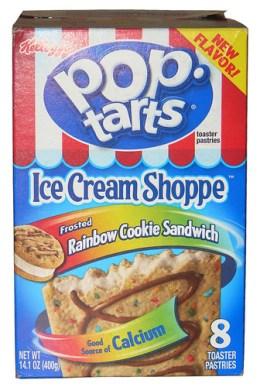 Kellogg's Ice Cream Shoppe Frosted Rainbow Cookie Sandwich Pop-Tarts
