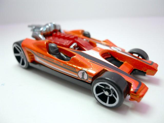 hot wheels honda racer orange (2)