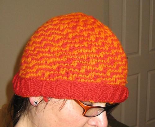 Marram hat in handspun