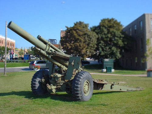 downtown Barrie, Ontario  - artillery by William J. Gibson, the Canuckshutterer