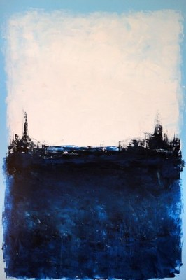 tom sawyer art abstract blue painting