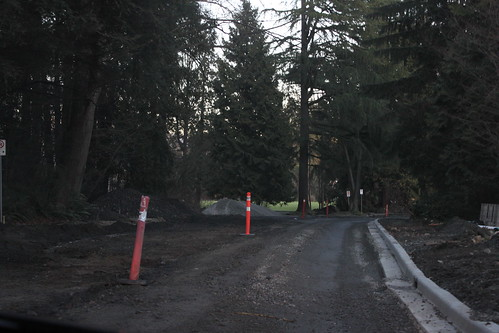 The roads in Stanley Park are under construction