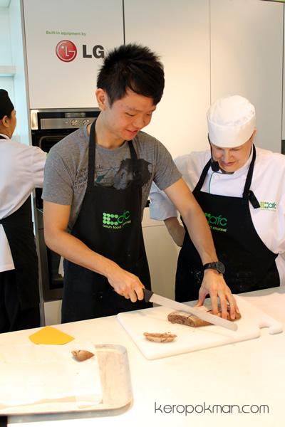 Cutting the biscotti - participant