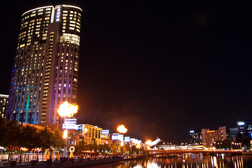 Fire show at the Crown Promenade