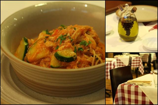 Capellini al Granchio e Zucchini