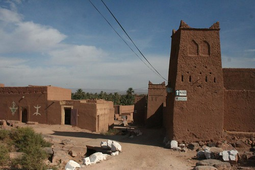 Ksar Tissergate on the way to Zagora in southern Morocco