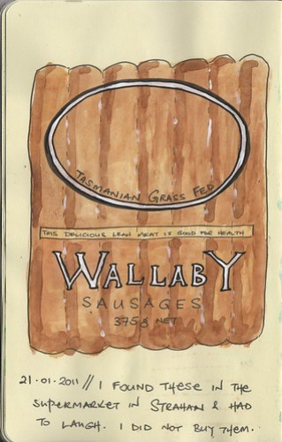 Wallaby sausages