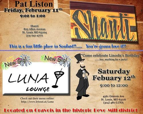 Pat Liston 2-11 & 2-12-11