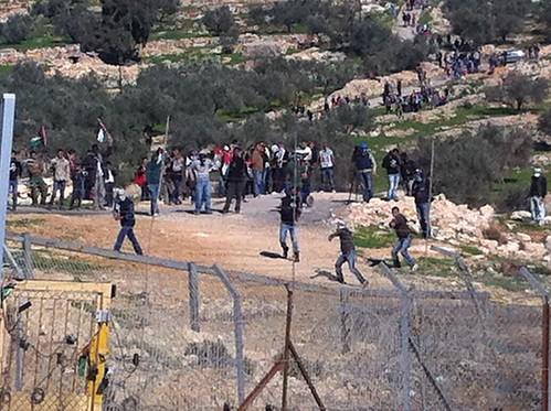 Violent Riot in Bil'in, February 18 2011