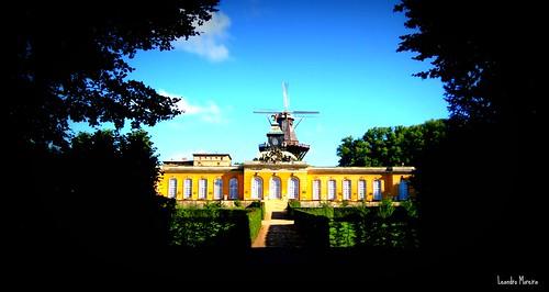 O Neue Kammern vista do Parque Sanssouci