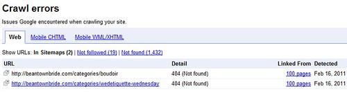 webmaster tools crawl errors